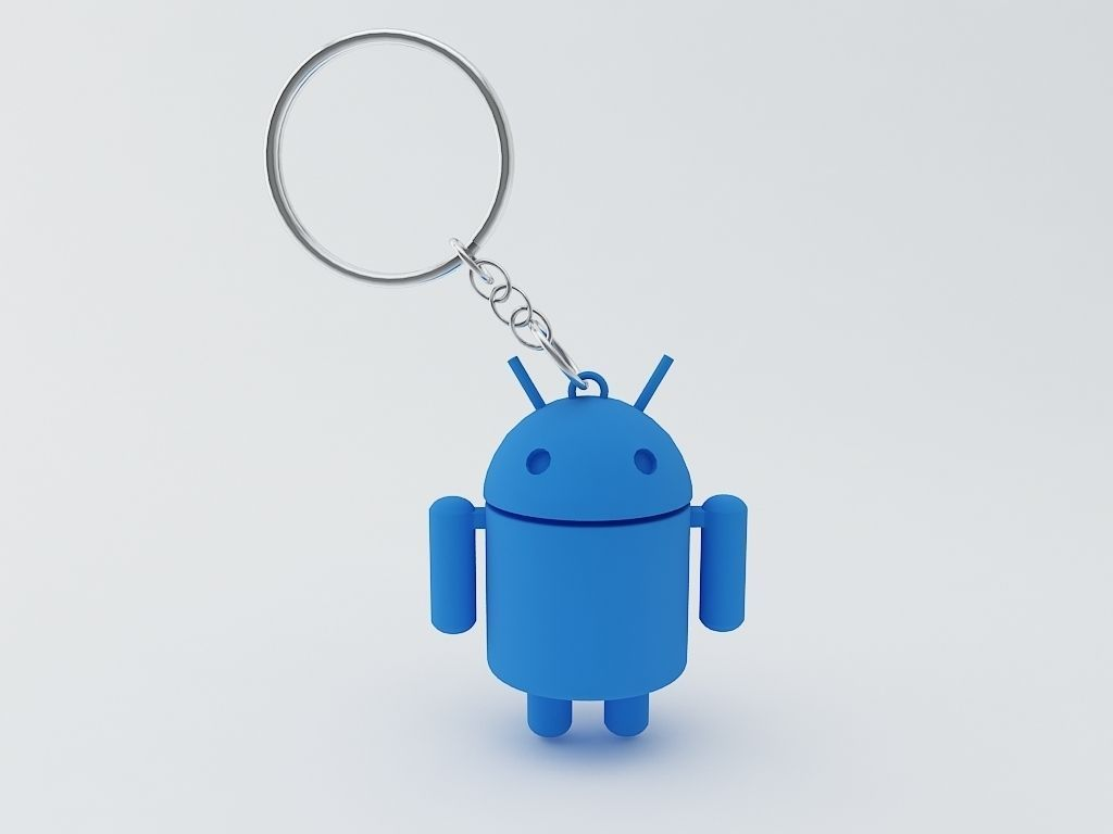Android Keychain Model 3d Model 3d Printable Stl