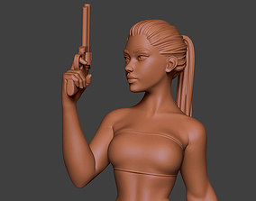 3D printable model Woman Gun 2