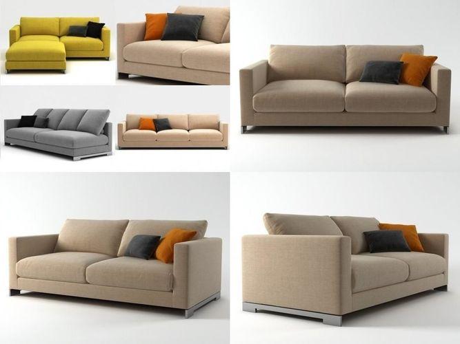 reversi sofa system 3d model max obj 3ds fbx c4d skp 1