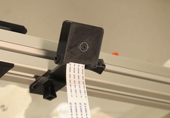 3030 mount and case for raspberry pi camera module v2 3d print m 3d model stl 1