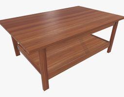 Wooden Modern Coffe Table 3D asset