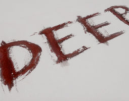 3D model Blood-Words and Symbols