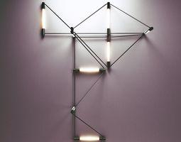 3d meta wall lamp