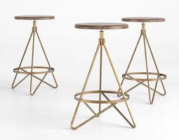 wyndham swivel stool 3d model