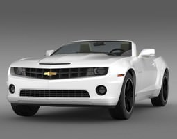 Chevrolet Camaro EUVersion 2012 Convertible 3D Model