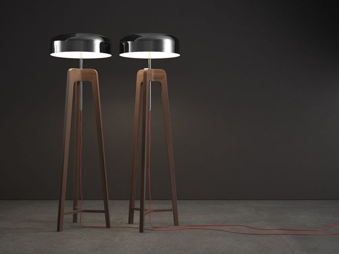 pileo floor lamp 3d model max obj mtl 3ds fbx c4d ma mb 1
