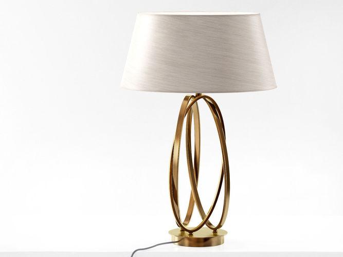 brass table lamp 3d model max obj mtl fbx c4d skp mxs 1