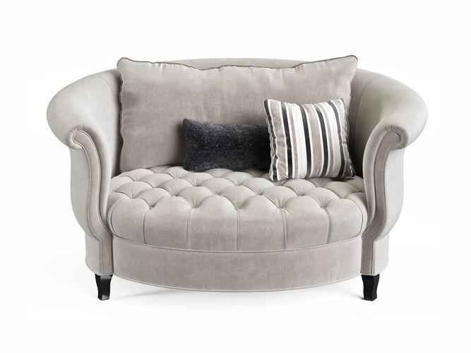 harlow cuddle chair 3d model max obj mtl fbx c4d mxs pdf 1