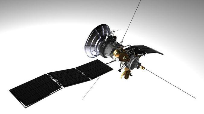 satellite 3d model obj mtl 3ds fbx c4d dxf stl 1
