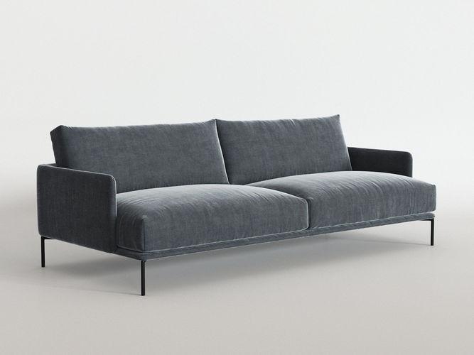baron sofa 3d model max obj mtl fbx c4d skp mxs 1