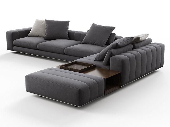 freeman corner sofa system n 3d model max obj mtl fbx c4d 3dm skp 1