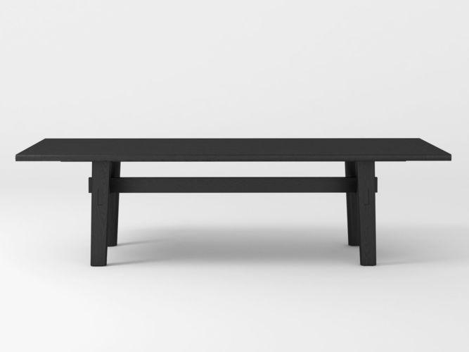 home hotel rectangular dining table 3d model max obj mtl fbx c4d skp mxs 1