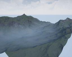 VR AR MR XR Render Ready Mountain 3D model