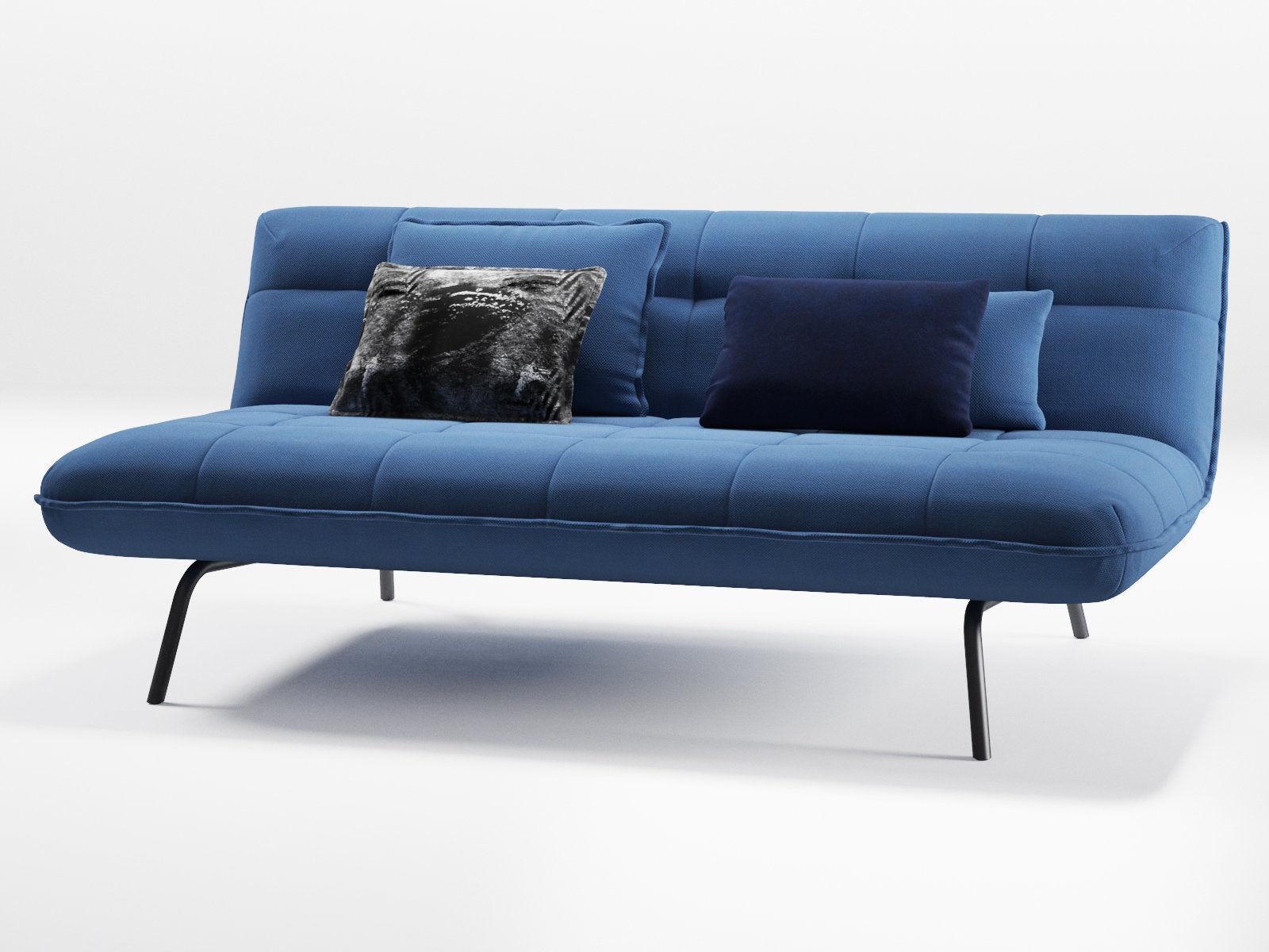 Berlin Loft Sofa Bed Model Max Obj Mtl Fbx C4d Skp Mxs 2