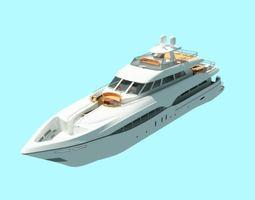 3D small yacht 112