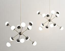 3d model rewire custom orb chandelier
