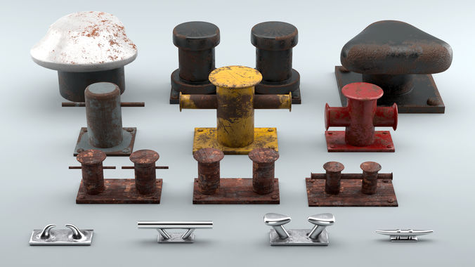 Used Sea Bollards for ship and yachts and marine pier
