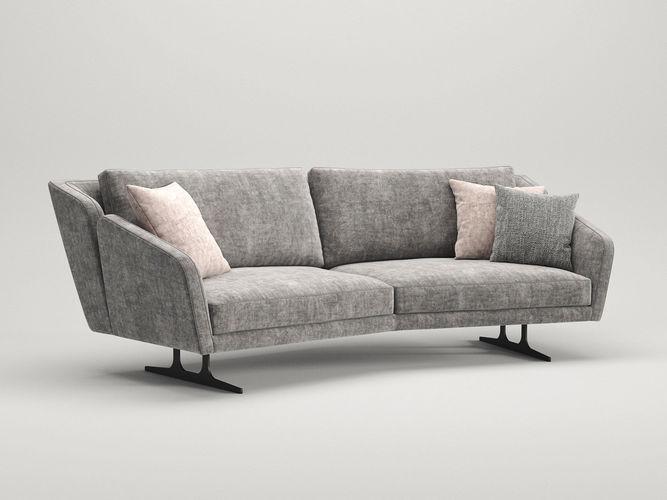 nikita 3 seater special sofa 3d model max obj mtl fbx c4d skp mxs 1