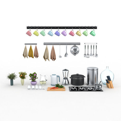 Kitchen collection3D model