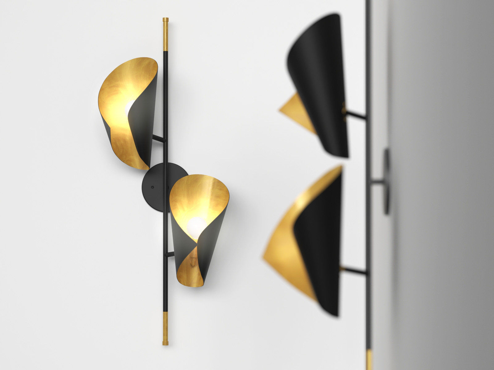 Cigale Double Sconce Wall Lamp