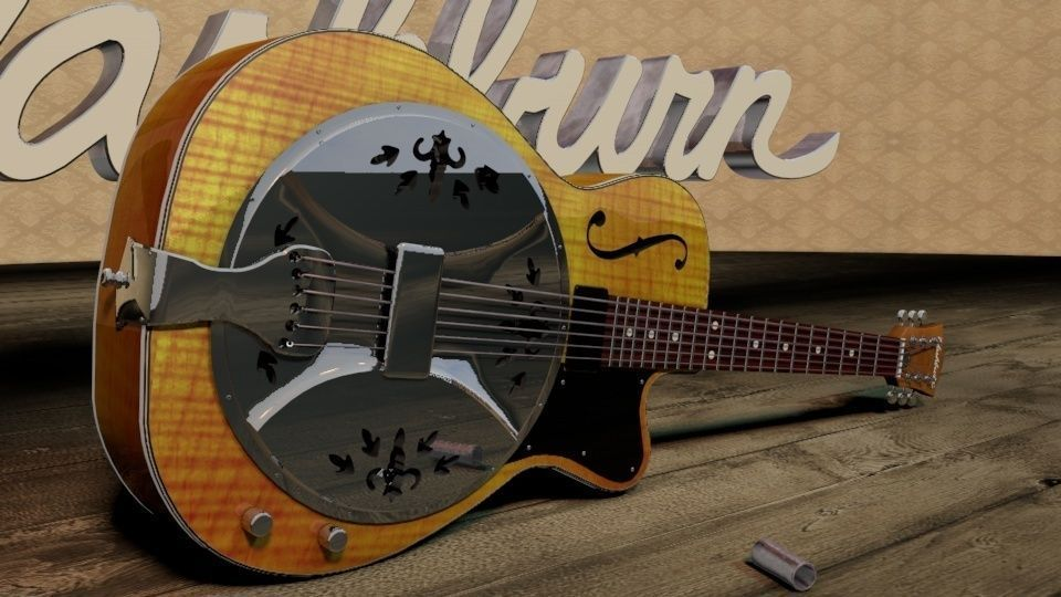 washburn r60 resonator guitar 3d model obj 3ds c4d dxf. Black Bedroom Furniture Sets. Home Design Ideas
