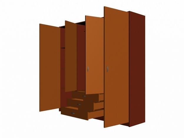 Wardrobe armoire 3d cgtrader for 3d wardrobe planner
