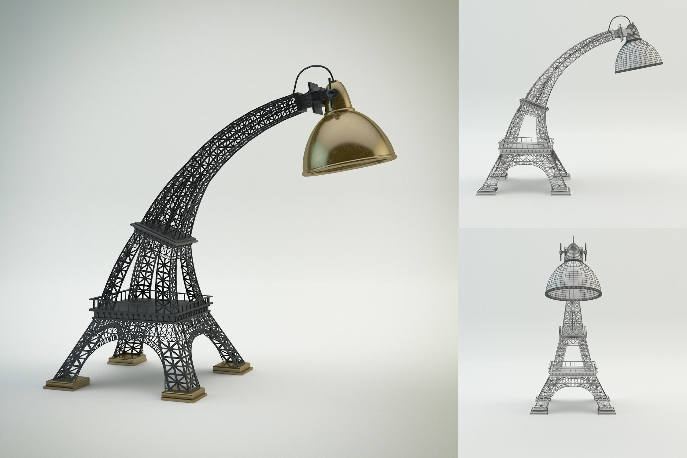 3D model Eiffel Tower lamp | CGTrader