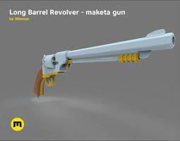 3D asset Long Barrel Revolver