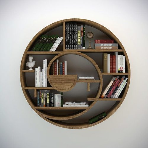 amazing teak open bookshelf asian bookcases circle circlebook bookcase circular with indoor finest gert