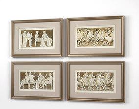 Eichholtz Prints Antiquities of Athens set of 3D model