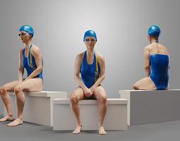 SwimmingpoolgirlCasualB 3D Model