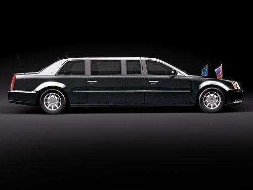 Cadillac Dts 2010 Presidental Limousine 3d Model Max 3ds