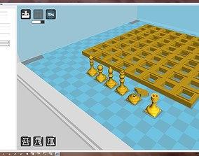 queen 3D print model chess set