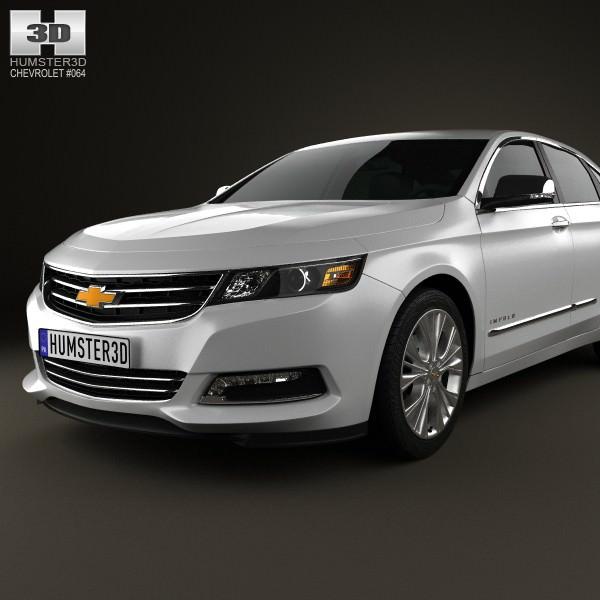 Chevrolet Impala 2014 3D Model MAX OBJ 3DS FBX C4D LWO LW