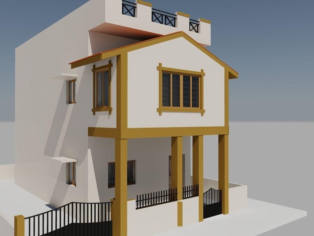 Duplex Mansion free 3D Model .dwg - CGTrader.com