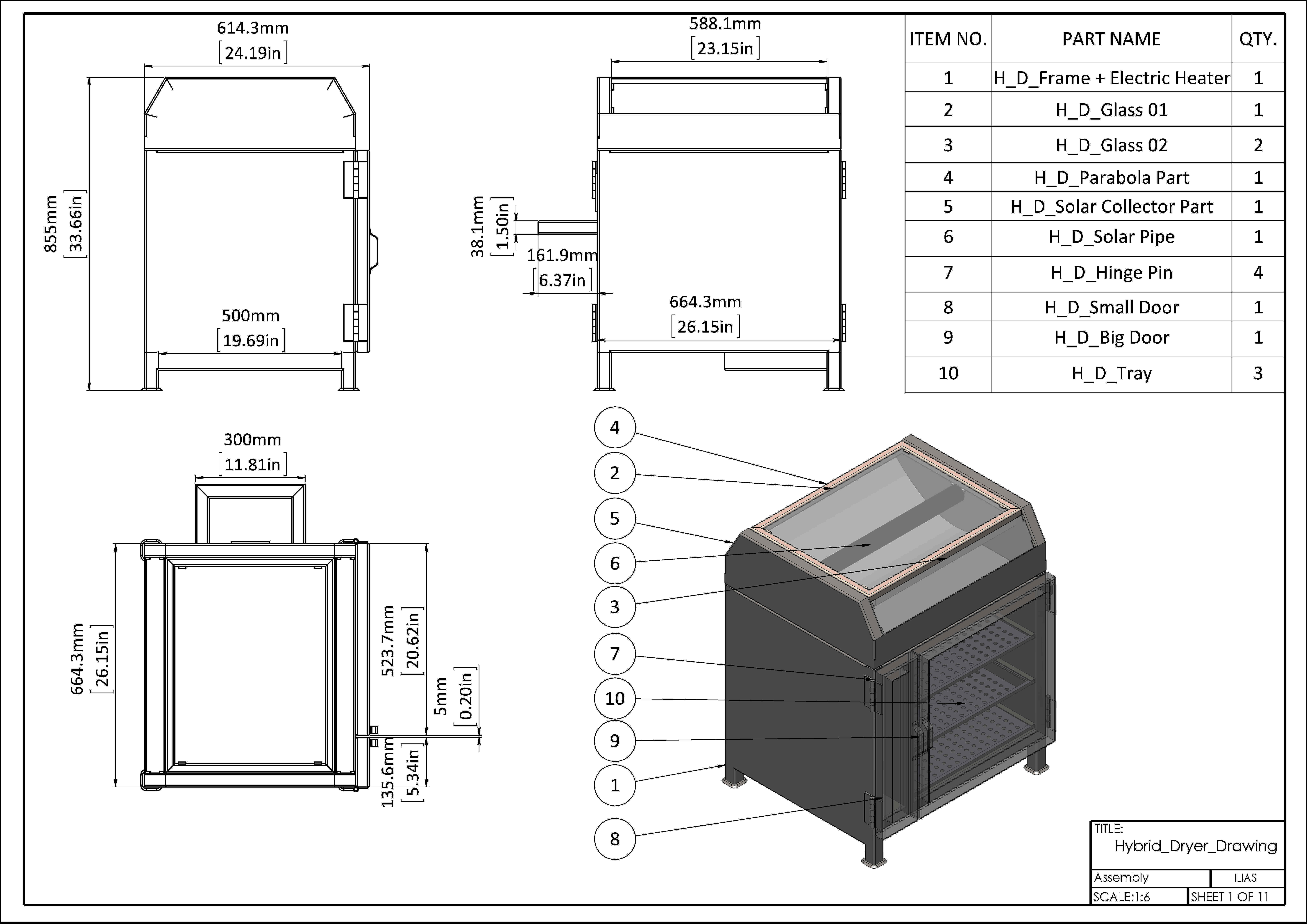 hybrid dryer free 3d model