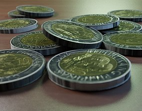 Philippines ten peso coin 3D