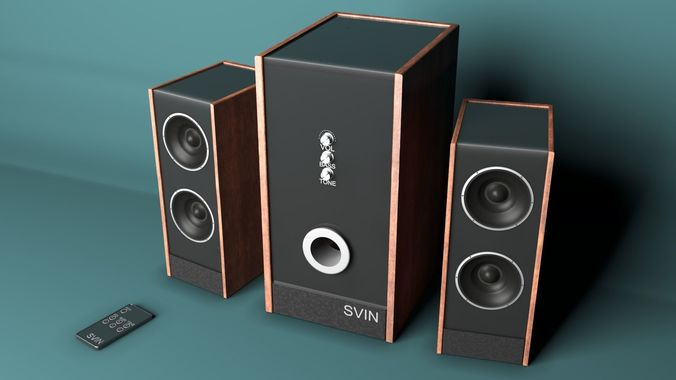 3d model animated speakers cgtrader