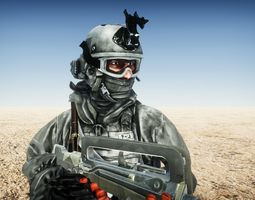 Soldier Marine SpecOps Rigged and Animated 3D model