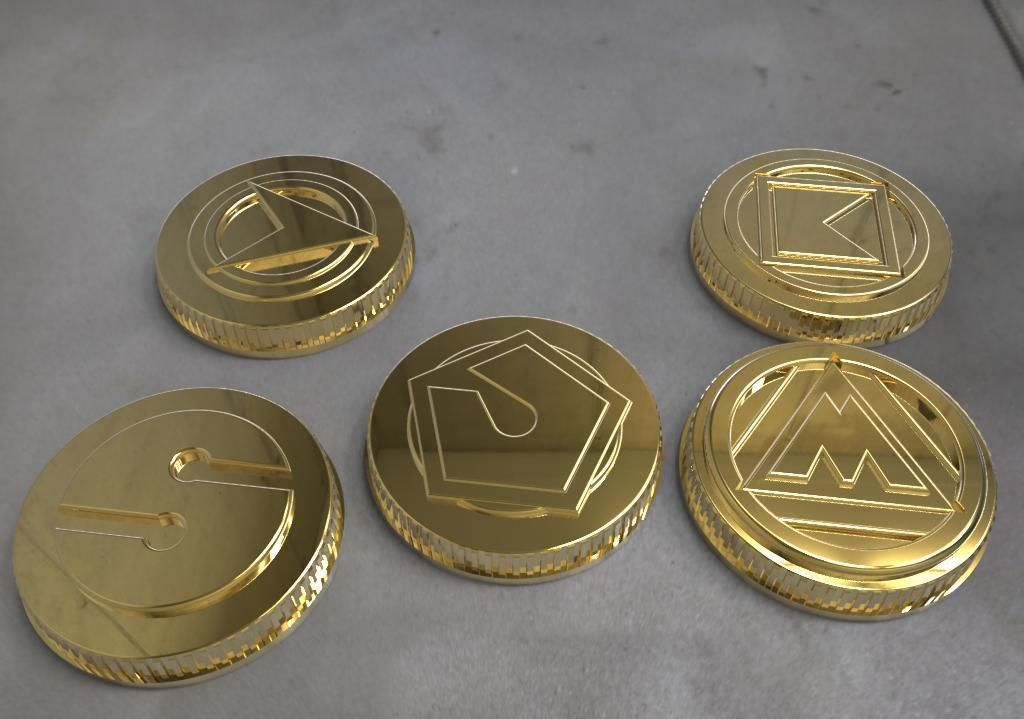 image regarding Printable Gold Coins named Alien rangers electricity cash 3D Print Style