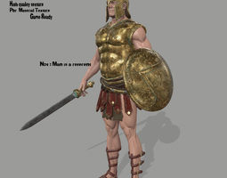 gladiator armor 3D model
