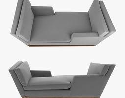 New Contemporary Modern Handmade Tete-a-tete 3D model