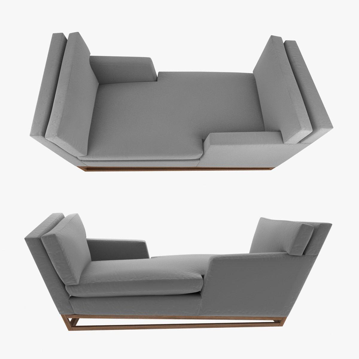 New Contemporary Modern Handmade Tete-a-tete Sofa