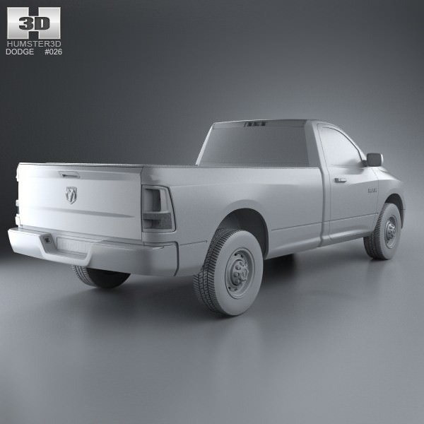 Dodge Ram 1500 Regular Cab ST 8-foot Box 2012 3D Model MAX