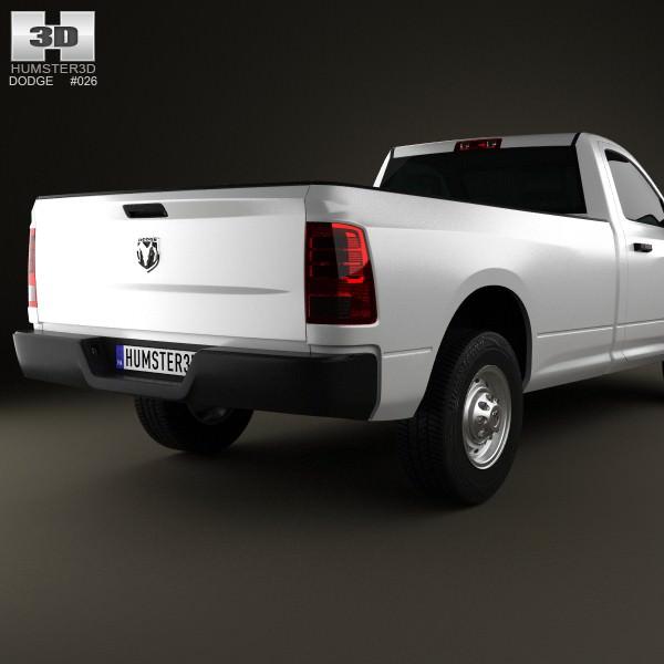 Dodge Ram 1500 Regular Cab ST 8-foot Box 2012 3D Model MAX