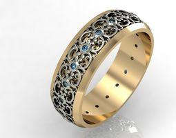fashion engagement ring 3D model