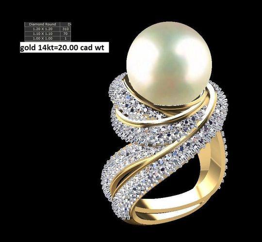 pearl ring 3d model stl 3dm 1