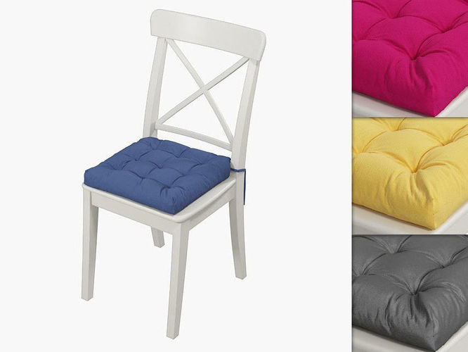 ikea ingolf chair with a pillow hoff with simple colors 3d model max obj mtl fbx mat 1