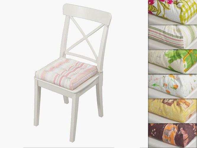 ikea ingolf chair with a pillow hoff 3d model max obj mtl fbx mat 1