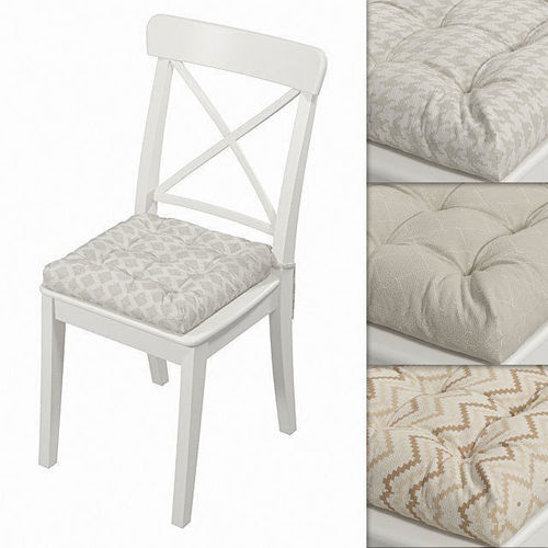 ikea ingolf chair with a pillow hoff with geometrical ornament 3d model max obj mtl fbx mat 1
